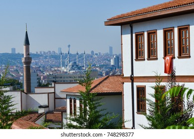 Ankara city skyline as seen from Hamamonu district - Ankara, Turkey