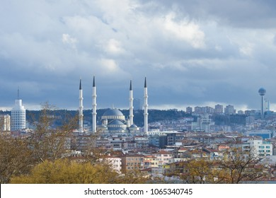 Ankara cityscape in a heavy rainy day - Ankara, Turkey