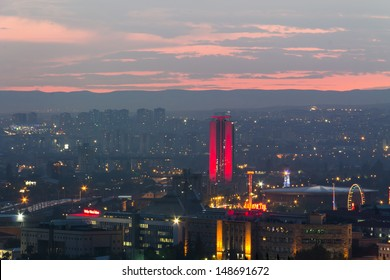 ANKARA - JUN 15: A view of city skyline at sundown, Jun 15, 2013 in Ankara , Ankara is the capital of Turkey and the country's second largest city after Istanbul.