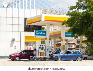 Ankara - June 22: Shell Oil - AutoGas Station , June 22, 2017 in Ankara, Turkey. Shell Oil Company is United States-based subsidiary of Royal Dutch Shell, a multinational oil company.