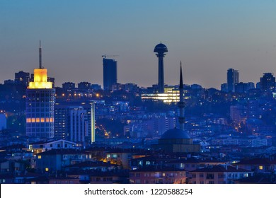 Ankara skyline at night - Ankara, Turkey