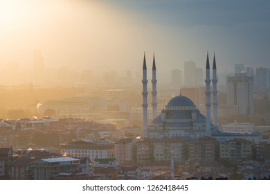 Ankara skyline at sunset - Ankara, Turkey