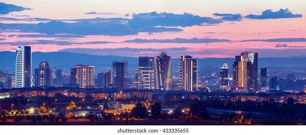Ankara, skyscrapers district