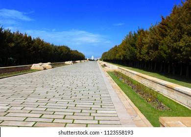 Ankara - Turkey. 10 November 2017. Anitkabir - Mausoleum of Ataturk, The Great Leader, Aslanli Yol, Ankara Turkey.