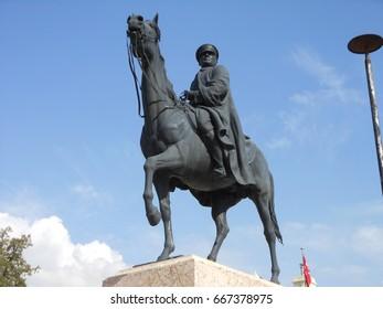 Ankara, Turkey 12.10.2014 : Mustafa Kemal Ataturk Statue