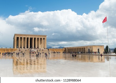 Ankara, Turkey - Anitkabir Mausoleum of Ataturk in springtime