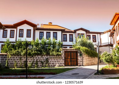 ANKARA, TURKEY, AUG 12, 2018, traditional Turkish houses in Ankara, Turkey.