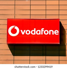 Ankara, Turkey - AUG 13, 2018: Vodafone Store - Vodafone is a British multinational telecommunications company and It is the one of the world's largest mobile telecommunications company.