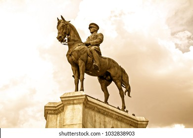 ANKARA, TURKEY - AUG, 2014: Ataturk monument in city center, Ulus