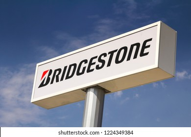 Ankara, Turkey - AUG 5, 2018: Bridgestone is a multinational auto and truck parts manufacturer founded in 1931 and also one of the largest manufacturer of tires in the world