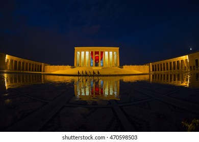 Ankara, Turkey - August 15, 2016: Anitkabir in Ankara Turkey. Anitkabir is Ataturks Tomb.