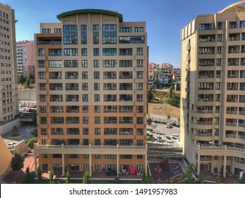 Ankara, Turkey - August 26, 2019: Modern apartment buildings in a row. Ankara, Turkey.