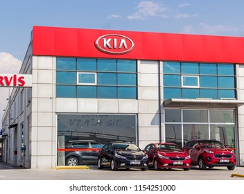 Ankara, TURKEY - August 5, 2018:Founded in 1944, Kia Motors Corporation (KMC) is the oldest motor vehicle manufacturer in South Korea and is now a subsidiary of the Hyundai-Kia Automotive Group.