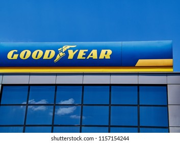 Ankara, TURKEY - August 5, 2018: The Goodyear Tire & Rubber Company is an American multinational tire manufacturing company founded in 1898 by Frank Seiberling and based in Akron, Ohio.