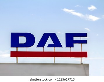 Ankara, TURKEY - August 5, 2018 : DAF Trucks NV is a Dutch truck manufacturing company and a division of PACCAR, (Pacific Car and Foundry Company).