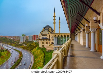 Ankara / Turkey December 07 2018: Kuzey Ankara Mosque