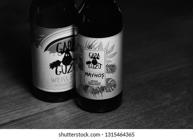 ANKARA, TURKEY - February 16, 2019: Gara Guzu is the first and most known Turkish craft brewery and with the increasing number of styles, has become the most favorite brand of Turkish beer lovers.