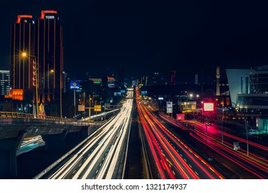 Ankara, Turkey - February 23, 2019: Eskişehir Boulevard is one of the most busy roads of Ankara and traffic gets heavier every day as more people move to the suburbs at the west end of the city.