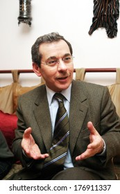 ANKARA, TURKEY - FEBRUARY 25: Famous Turkish politician and former Turkish Finance Minister Abdullatif Sener portrait on February 25, 2006, Ankara, Turkey.
