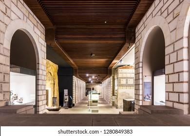 Ankara, Turkey - January 09, 2019 : The Museum of Anatolian Civilizations Museum interior view in Ankara City of Turkey