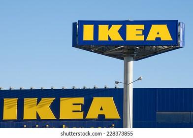Ankara, Turkey - June 17, 2012:  IKEA billboard in front of their own appliances retailer.