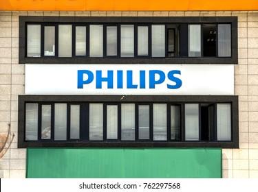 Ankara, Turkey, June 22, 2017 : Philips company logo sign. Philips s a Dutch technology company headquartered in Amsterdam. Copenhagen, Denmark,