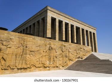 Ankara, Turkey - Mausoleum of Ataturk, first president of the Republic of Turkey.