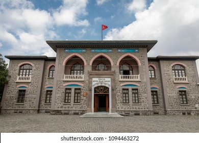 Ankara, Turkey - May 10, 2018 : The Old Grand National Assembly of Turkey building view. Turkish Republic was declared in this building.