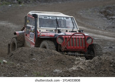 Ankara, Turkey - May 12, 2018: Several pilots compete at an off-road racing event that is part of the Turkish Off-Roaf Championship held by TOSFED.