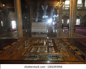 Ankara, Turkey - May 26 2013: Model of Mescid-i Nebevi (Medina) in the Kocatepe Mosque.