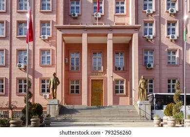 ANKARA, TURKEY - NOVEMBER 26, 2017: Supreme Court (Yargitay) Building in Ankara, Turkey