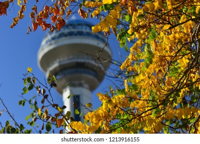 Ankara / Turkey - October 01 2018: Atakule is the most known symbol of the Ankara, Turkey