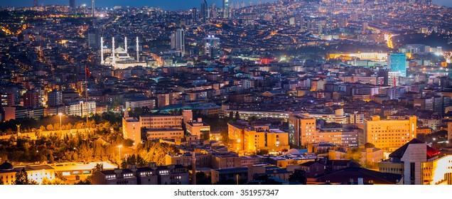 ANKARA, TURKEY - SEPTEMBER 27, 2015: Ankara, Capital city of Turkey