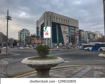 ANKARA,TURKEY - January -10 2019 : Kizilay square,city center of Ankara.Capital of Turkey