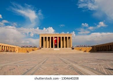 Ankara/Turkey - November 2014 Mausoleum of Atatürk