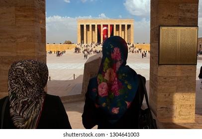 Ankara/Turkey - November 2014 Mausoleum of Atatürk / Anıtkabir