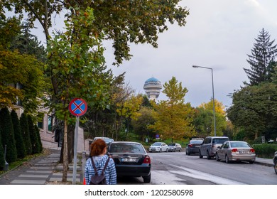 Ankara/Turkey - October 13 2018: Ankara Landscape with Atakule tower