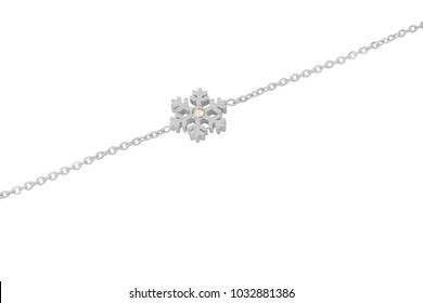 Ankle jewelry In white background