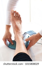 ankle sprain and electrotherapy