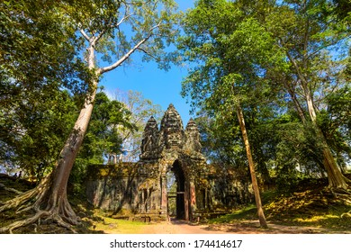Ankor Thom, located in present day Cambodia, was the last and most enduring capital city of the Khmer empire. It was established in the late twelfth century by King Jayavarman VII.