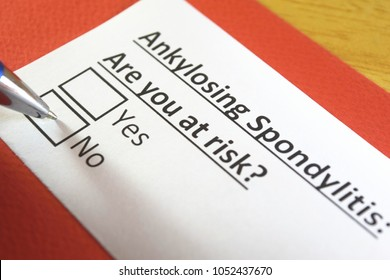 Ankylosing spondylitis: Are you at risk? yes or no
