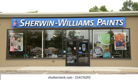 ANN ARBOR, MI - AUGUST 24: Sherwin Williams, whose east Ann Arbor store is shown on August 24, 2014, has over 3,500 stores worldwide.