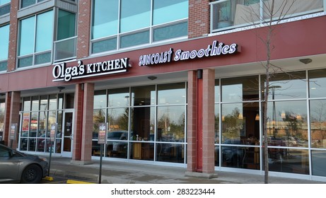 ANN ARBOR, MI - DECEMBER 22:  Olga's Kitchen whose north Ann Arbor location is shown on December 22, 2014, has 28 locations in Michigan.
