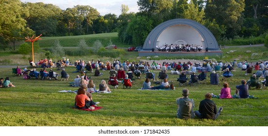 ANN ARBOR, MI - JULY 24: Ann Arbor Civic Band performs at the West Park Band Shell in Ann Arbor July 24, 2013. The Civic Band was founded in 1935.