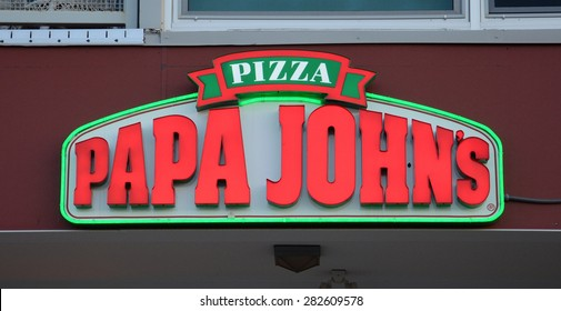 ANN ARBOR, MI - SEPTEMBER 2:  Papa John'??s, whose Ann Arbor, MI store logo is shown on September 2, 2014, has 4,600 locations in 34 countries