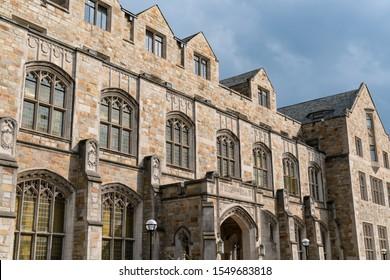 Ann Arbor, MI - September 21, 2019: Hutchins Hall at the University of Michigan Law School