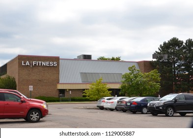 ANN ARBOR, MI / USA - JULY 16, 2017:  LA Fitness, whose Ann Arbor store is shown here, has over 700 stores in the United States and Canada.