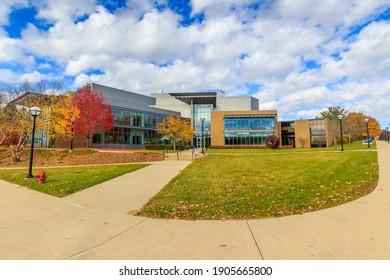 ANN ARBOR, MI, USA - NOVEMBER 8: Lurie Biomedical Engineering Building on November 8, 2020 at the University of Michigan in Ann Arbor, Michigan.