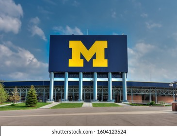 Ann Arbor, Michigan/USA -- July 2012: University of Michigan football stadium scoreboard, the largest in the country.
