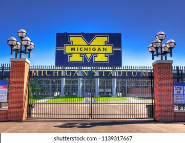 Ann Arbor, Michigan/USA - June 2009 - University of Michigan stadium scoreboard.